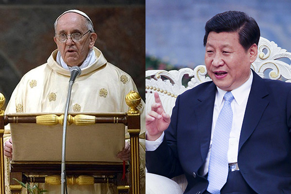 Pope Francis and Chinese President Xi Jinping