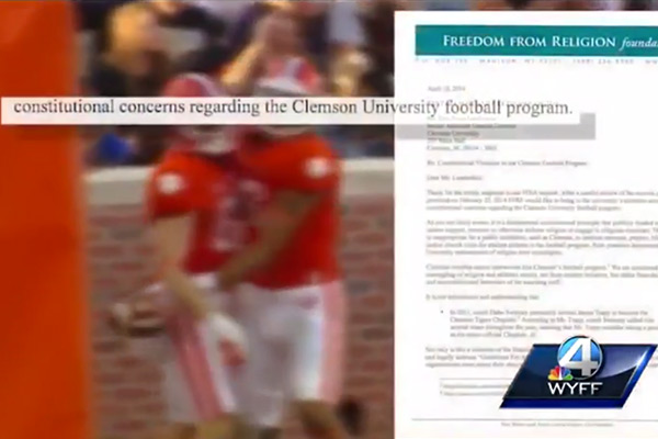 Clemson University Football and Freedom From Religion Foundation