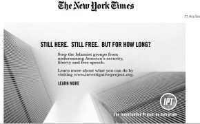 New York Times Runs Site Takeover & Print Ad by Group Concerned about Radical Muslim Terrorism