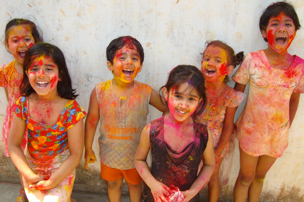Hindu children celebrate the annual festival of Raksha Bandhan. PHOTO CREDIT: World Religion News