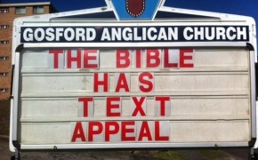 Anglican Priest Defends LGBT with Church Signs