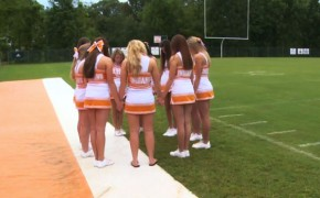 HS Cheerleader Asia Canada Boldly Leads Prayer Before Games