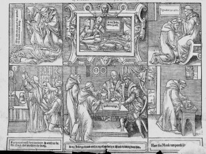The English Reformation was a series of events in 16th century England by which the Church of England broke away from the authority of the Pope and the Catholic Church.