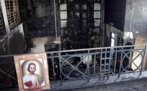 Delhi Christians Protest an Alleged Church Arson Attack