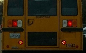 Tennessee mother outraged by school bus brake light that looks like a pentagram
