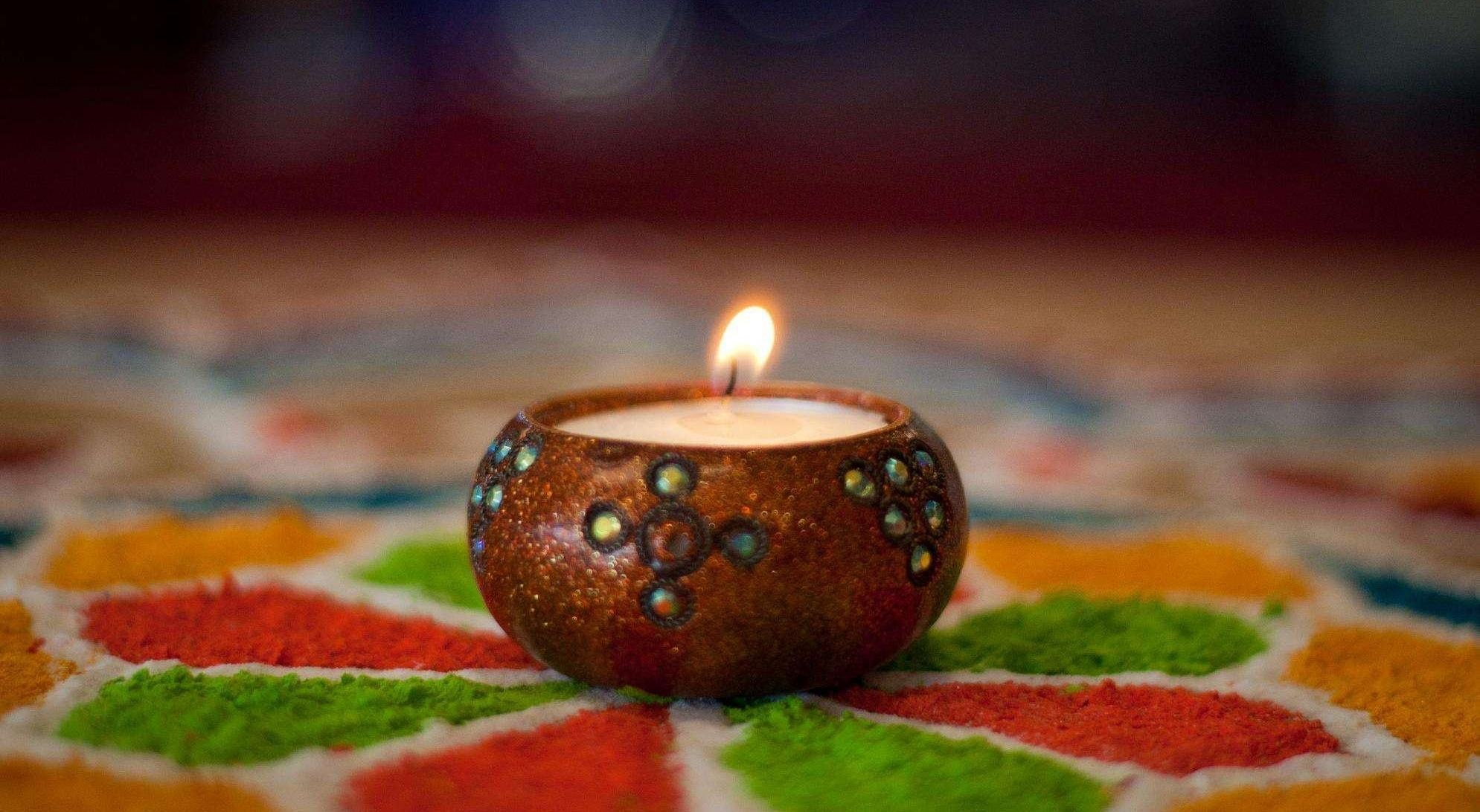 Beautiful Hd Happy Diwali With Candles Wallpaper: Diwali Festival Of Lights Is October 30