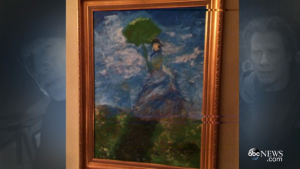 "A fake ""Monet"" used in the film and actually painted by John Travolta."