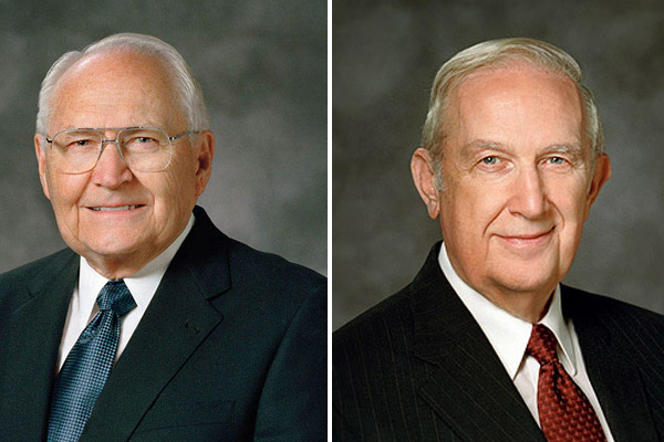 Mormon Elders L. Tom Perry and Richard G. Scott