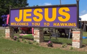 Jesus Will No Longer Be Welcoming People To Hawkins, Texas