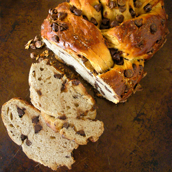 Chocolate Chip Bread Pudding Using Challah