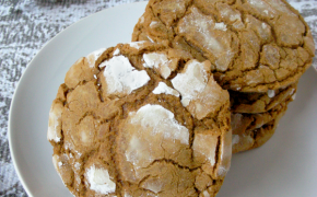 Chewy Spiced Crinkle Cookies for Christmas