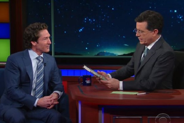 Joel Osteen talks God and new Book with Stephen Colbert