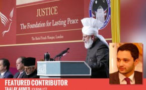 Hazrat Mirza Masroor Ahmad at the Peace Symposium U.K.