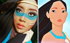 Muslim Makeup Artist Uses Hijab to Transform into Disney Characters and Superheroes