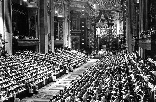The second session of the Ecumenical Council, at the Vatican. Sept. 29 1963 -Photo: Keystone
