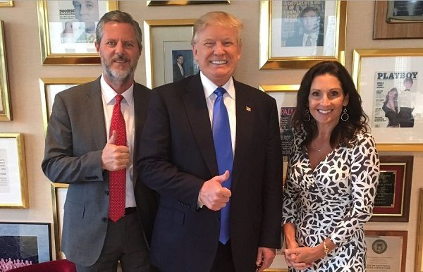 Jerry Falwell Jr. Twitter post with Donald Trump and Playboy magazine.