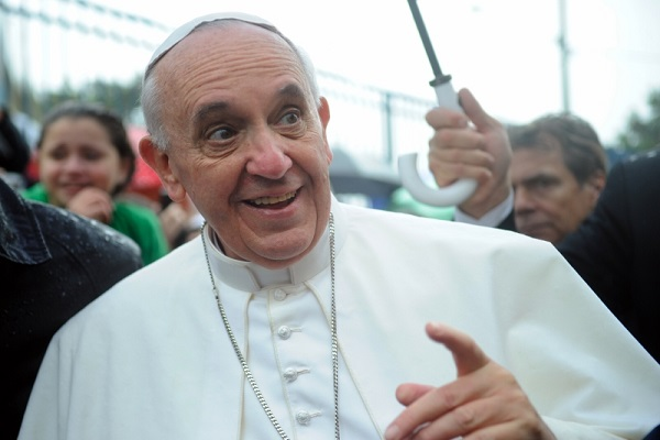 Pope Francis celebrate with wine