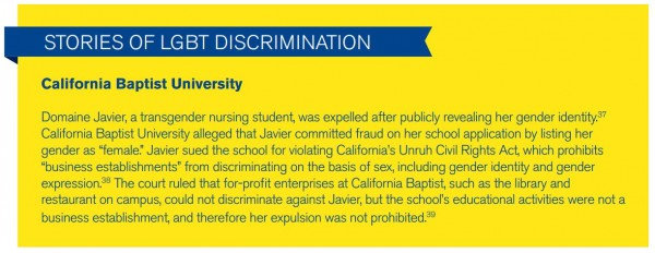 Title IX Religious Exemptions: Stories of LGBT Discrimination -California Baptist University