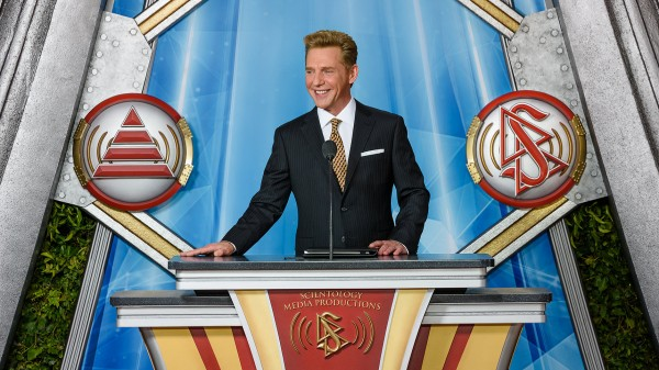 Scientology leader David Miscavige at the Scientology Media Productions launch.