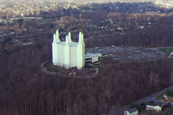 Aerial View of the Latter Day Saint Temple