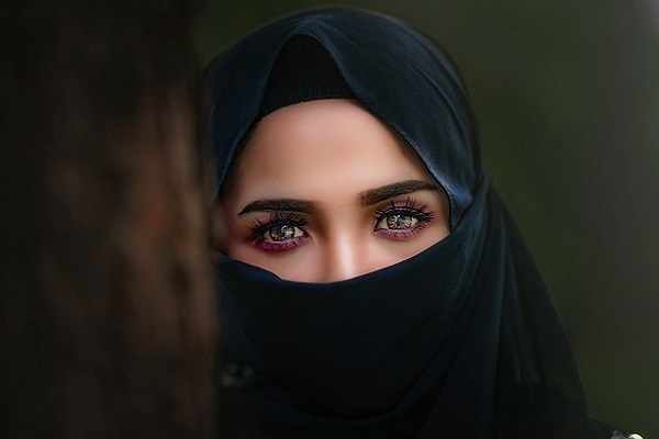 Woman Hijab Headscarf Portrait Girl Veil Eye