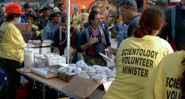 Scientology Volunteer Ministers provided food and comfort to the firefighters and emergency medical teams, so many of whom had lost friends in the disaster.