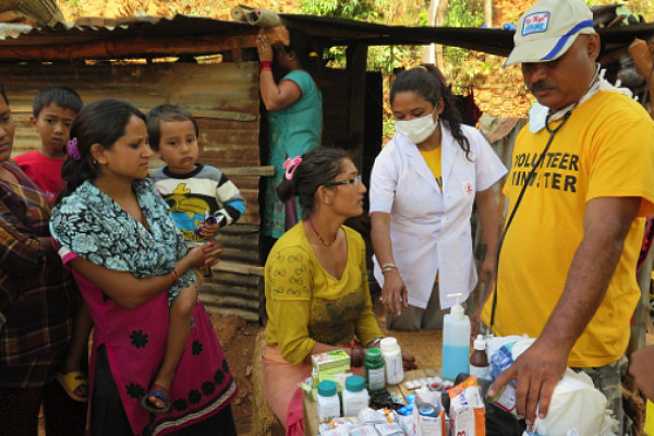 Volunteer Minister-trained medical doctors and nurses provided care after the Nepal earthquake of 2015.