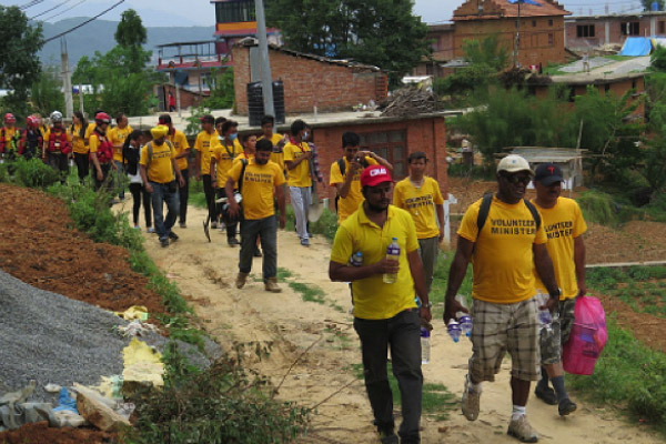 Bringing help to remote villages in Nepal after the 2015 earthquake.