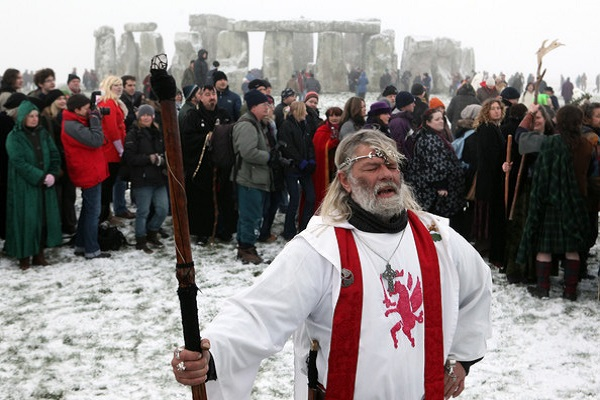 Druid King Arthur Pendragon at Stonehenge in 2009