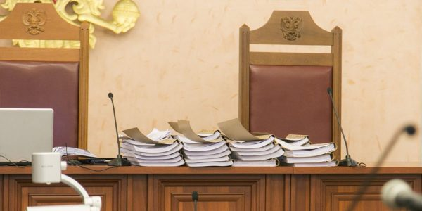 The Court reviewed 43 volumes of documents submitted as case materials. Courtesy of Jehovah's Witnesses