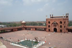 Jama Masjid, the largest mosque in Delhi.