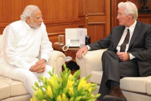 Richard Gere with PM Narendra Modi