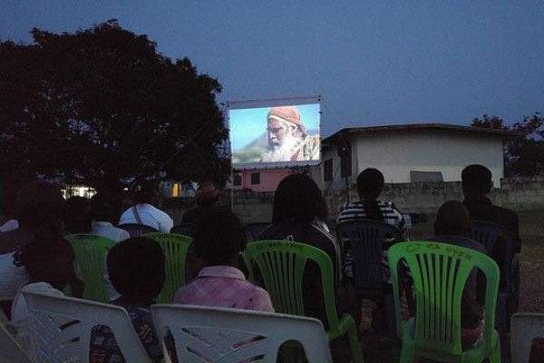 A film showing in Gabon. Photo courtesy Jesus Film Project