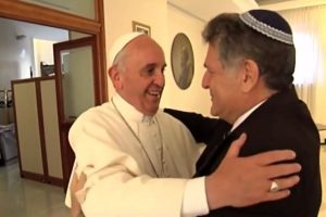 Pope Francis and Rabbi Abraham Skorka at the Vatican -2013 Source : Holy Land Pilgrimage video screenshot