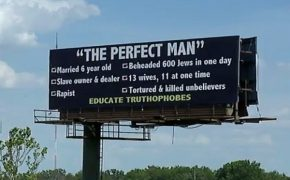 Muslims Enraged Over Billboard Claiming Muhammad Was a Rapist and Killer