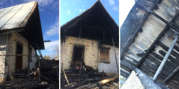Kingdom Hall (a place of worship) of Jehovah's Witnesses in Zheshart damaged by arson attack