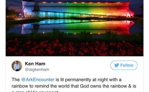 "Ark Encounter Lit Up to ""Take Back"" the Rainbow from the LGBT Community"