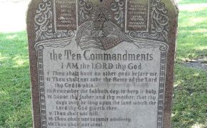 Pure Flix Donates $25,000 to Rebuild Ten Commandments Monument That Was Run Over by a Car