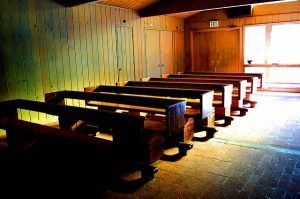 Church with empty pews