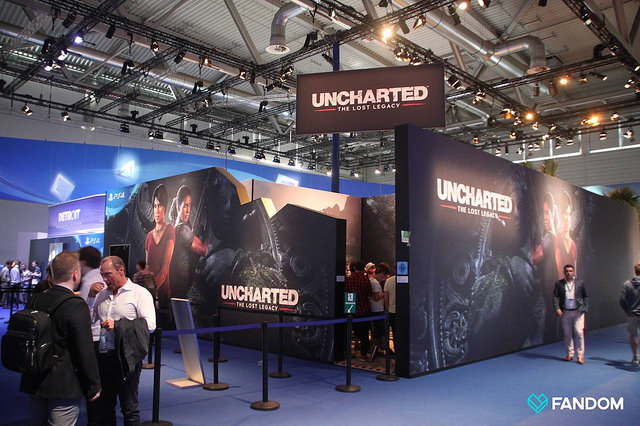 Uncharted Lost Legacy Video Game Booth at Conference