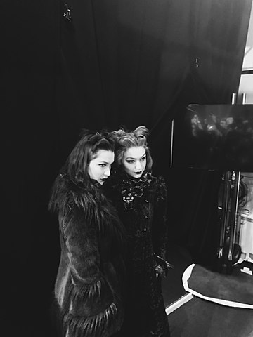 Hadid Sisters Posing for Picture