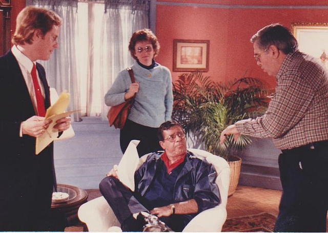 Jerry Lewis being directed by group