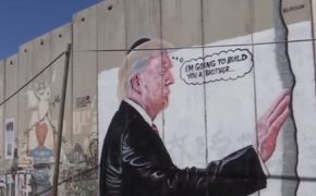 Graffiti Mocks Trump at Western Wall