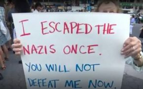 "89-Year-Old Holocaust Survivor Who Attended Anti-Hate Rally in NYC: ""Escaped the Nazis Once. You Will Not Defeat Me Now"""