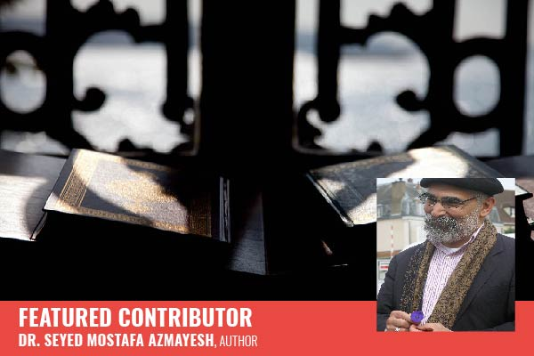 Koran in Mosque and Featured Contributor Seyed Mostafa Azmayesh