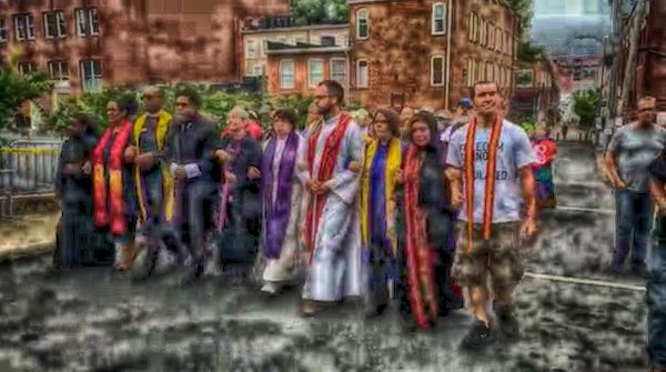 Clergy march in Charlottesville, Virginia
