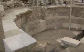 After 1,700 Years Large Section of Western Wall and Roman Theater Discovered