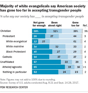 Religions divided on transgender people