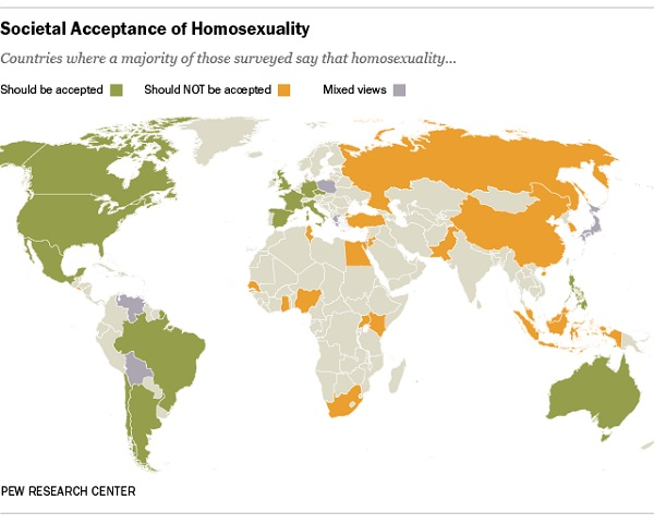 Gay Marriage Around the World Pew Research Center