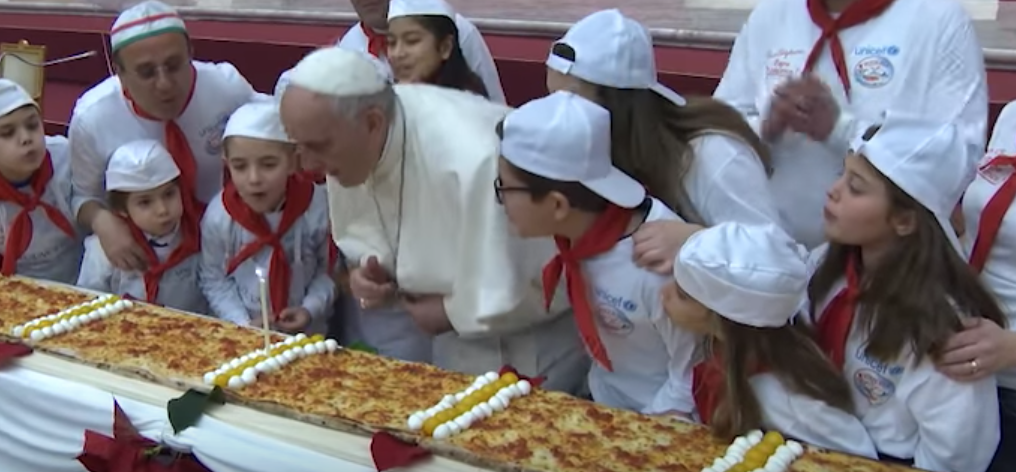 Pizza Party for Pope Francis's 81st Birthday